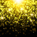 Goldener abstrakter Hintergrund Lizenzfreie Stockbilder