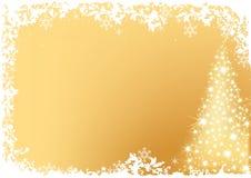 Goldener abstrakter Weihnachtsbaum Stockbild