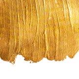 Goldener Acrylhintergrund Stockfoto