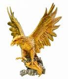 Goldener Adler-Statue Stockfotografie