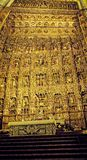 Goldener Altar der Kathedrale in Sevilla in Andalusien Spanien Stockfotografie