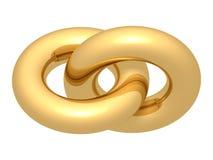 Goldener Anschluss Stockbild