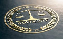 Goldener Anwalt Symbol Lizenzfreie Stockfotos