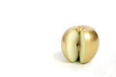 Goldener Apfel Stockfoto