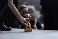 Goldener Bär für besten Film nimmt an der Pressekonferenz teil Lizenzfreies Stockfoto