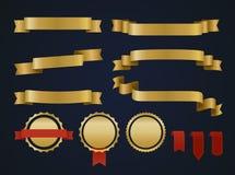 Goldener Bandsatz Stockbilder