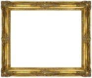 Goldener Barockrahmen lokalisiert auf weißem Hintergrund stockfoto