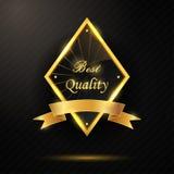 Goldener bester Qualitäts-Ausweis Stockbilder