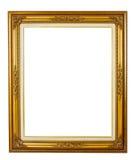 Goldener Bilderrahmen der Eleganz Stockfotografie