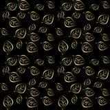 Goldener Blattfall des nahtlosen Tapetenmusters Stockfotografie