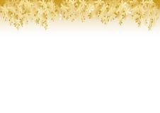Goldener Blumen-Hintergrund Stockfotografie