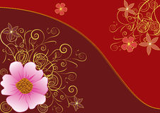 Goldener Blumenhintergrund Stockbild