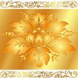 Goldener Blumenhintergrund lizenzfreie abbildung