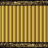 Goldener Blumenhintergrund Lizenzfreie Stockfotos