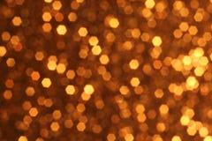 Goldener Bokeh-Hintergrund Lizenzfreies Stockfoto