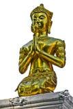 Goldener Buddha, alte siamesische Tempel in Nord Lizenzfreies Stockfoto