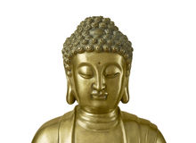 Goldener Buddha auf weißem Hintergrund Lizenzfreie Stockfotografie