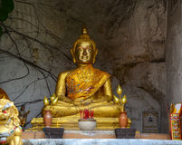 Goldener Buddha bei Wat Saket in Bangkok, Thailand Lizenzfreie Stockfotografie