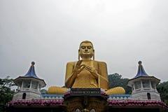 Goldener Buddha im dambullla Stockfotos
