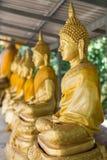 Goldener Buddha im Tempel Stockbild