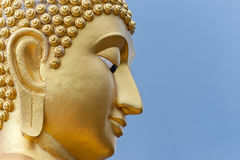 Goldener Buddha-Kopf Stockfoto