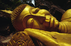 Goldener Buddha, Luang Prabang Laos Stockbild