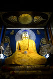 Goldener Buddha an Mahabodhi-Tempel Stockfotografie