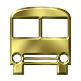 Goldener Bus vektor abbildung