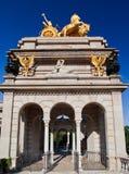 Goldener Charriot Parc de La Ciutadella Barcelona Lizenzfreie Stockbilder