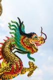 Goldener chinesischer Drache Stockfotografie