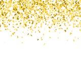 Goldener Confettihintergrund vektor abbildung