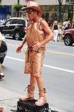 Goldener Cowboykünstler Lizenzfreies Stockfoto