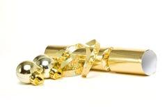 Goldener Cracker Lizenzfreie Stockfotos
