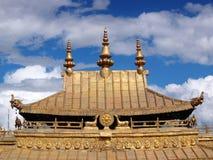 Goldener Dach Potala Palast Lhasa Tibet Lizenzfreies Stockfoto