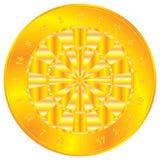 Goldener Dartboard Lizenzfreie Stockfotos