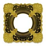 Goldener dekorativer WeinleseBilderrahmen Lizenzfreie Stockfotos