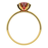 Goldener Diamantring Stockfoto