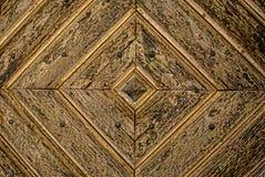 Goldener Diamond Pattern-Holztür Detail-Hintergrund Lizenzfreie Stockfotos