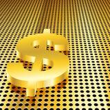 Goldener Dollar-Hintergrund Lizenzfreie Stockfotos