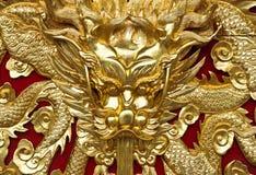Goldener Drache stockbild