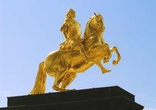 goldener dresden reiter zdjęcie stock