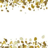 Goldener Eihintergrund Ostern Gold 3d ärgert Konfettis Vector Kranken Stockfotos