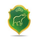 Goldener Elefant Stockbild