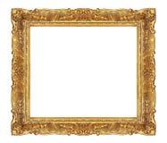 Goldener eleganter Bilderrahmen Stockbild