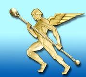 goldener Engel der Weinlese   Stockfotos