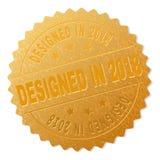 Goldener ENTWORFENER IM JAHRE 2018 Medaillen-Stempel lizenzfreie abbildung