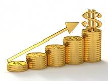 Goldener Erfolg Lizenzfreie Stockfotos