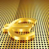 Goldener Eurohintergrund stock abbildung