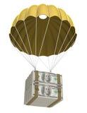 Goldener Fallschirm Lizenzfreie Stockfotografie