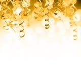 Goldener Feiertagshintergrund Stockfotografie